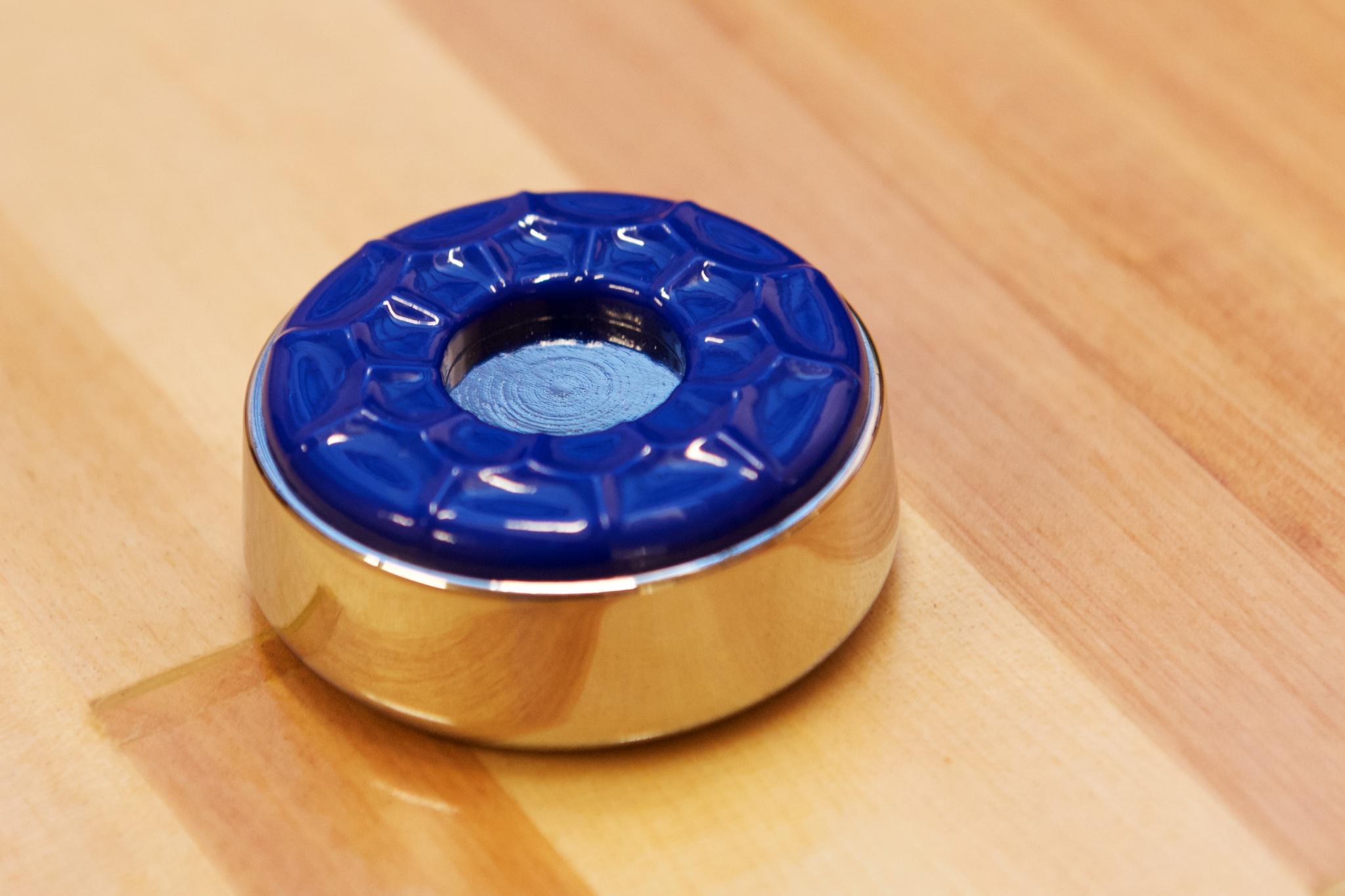 Stor shuffleboard puck stein large farge blå