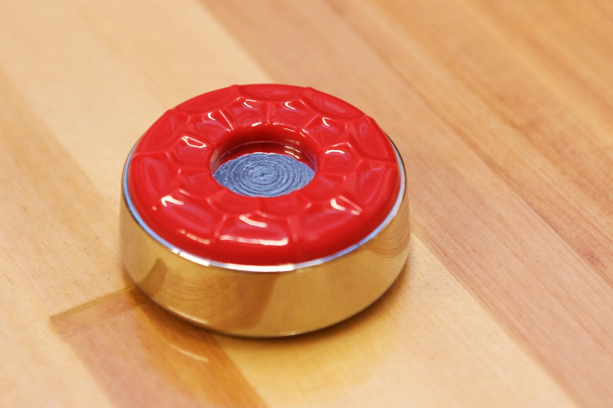 Stor shuffleboard puck stein large farge rød